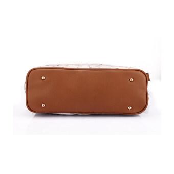 Realer Women's PU Leather 3 Sets Top Handle Bag Color Street - Intl - 5