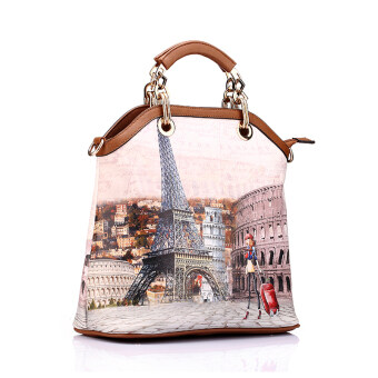 Realer Women's PU Leather 3 Sets Top Handle Bag Color Street - Intl - 2