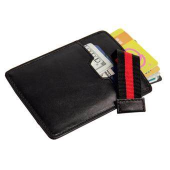 RFID Blocking Front Pocket Wallet - Boshiho Slim Card Sleeve CreditCard Holder Up to 8 Cards & Cash(Black) - intl