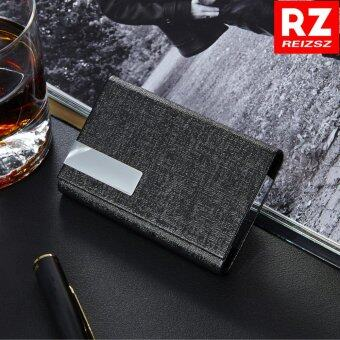 RZ Business Name Card Holder Luxury PU Leather & StainlessSteel Multi Card Case,Business Name