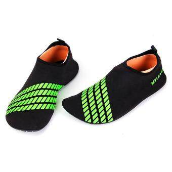 Harga Slip Men Women Surf Aqua Beach Water Socks Shoes Sport Yoga (Green)
