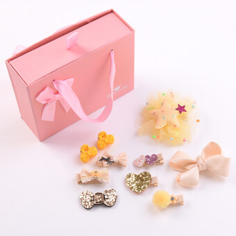 Small girl Gift Set jewelry hair clip tousheng (2 # yellow tensets) (2 # yellow ten sets)