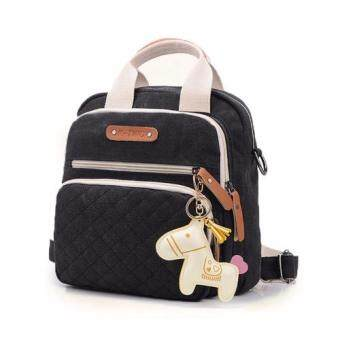 SOKANO POKOKO lil Horse 3ways canvas mummy Bag_Black