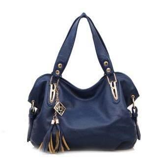 SoKaNo Trendz 0581 Le Corocodile Leather Tote Bag_Blue