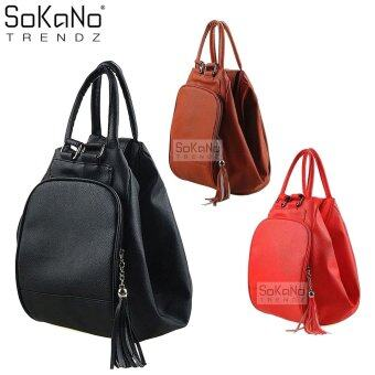 SoKaNo Trendz 4 Way Premium PU Leather Bag Black