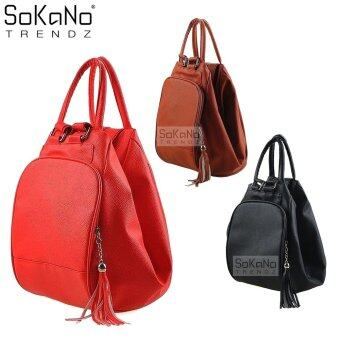 SoKaNo Trendz 4 Way Premium PU Leather Bag Red