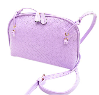 SoKaNo Trendz Crossbody Knitted Bag- Light Purple