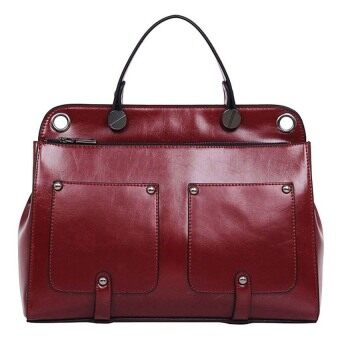 SoKaNo Trendz Premium CYX PU Leather Tote Bag Maroon