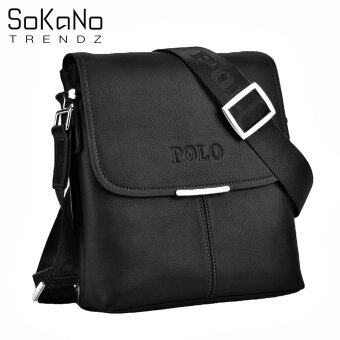 SoKaNo Trendz Premium POLO 3001 Vertical Leather Bag- Black
