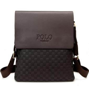 SoKaNo Trendz Premium POLO 8860 Vertical Leather Bag- Brown