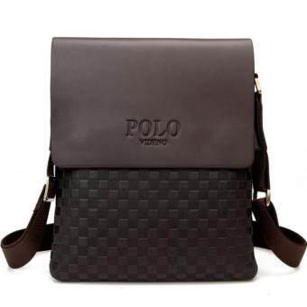SoKaNo Trendz Premium POLO 8860 Vertical Leather Bag- Brown