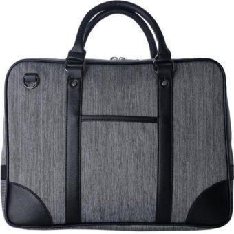 SoKaNo Trendz S002 Premium Canvas Briefcase- Grey