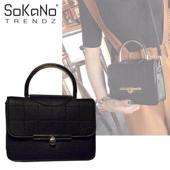 SoKaNo Trendz SKN621 PU Leather Premium Crossbody Bag - Black