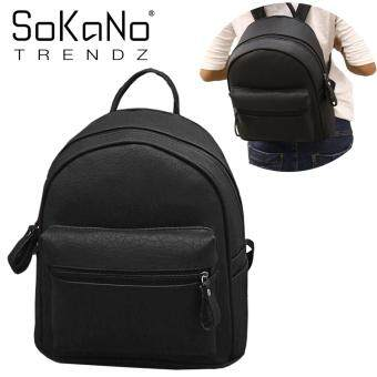 SoKaNo Trendz SKN756 European Style Classic Design Double Straps PU Leather Backpack