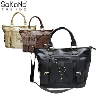 SoKaNo Trendz SKN817 Large Capacity Premium PU Leather Bag- Black