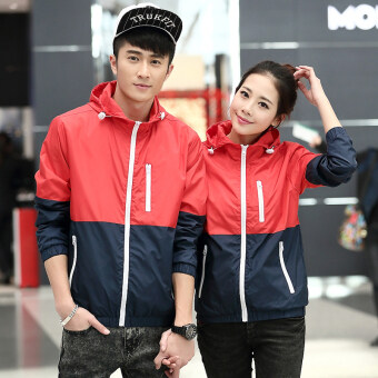 Sports Korean-style men spring New style waterproof coat (Red) (Red)
