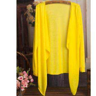 Summer Thin Cardigan 2017 Summer Wear-Lemon Yellow