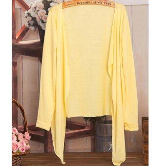 Summer Thin Cardigan 2017 Summer Wear-Yellow