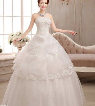 sweety wedding dress lace white wedding gown lazada malaysia