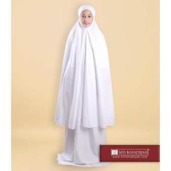 Telekung Siti Khadijah Classic Signature (White) (One Set- telekung & kain) - 3