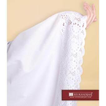 Telekung Siti Khadijah Classic Signature (White) (One Set- telekung & kain) - 4