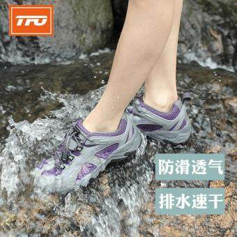 Harga TFO Mesh Aqua Shoes Breathable Quick-Dry Anti-Slippery Water ShoeWomen Sport Summer Water Shoes in Water Beach Upstream Shoes