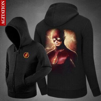 The new flash man Wei men Print hooded cardigan hoodie