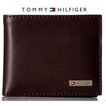 Tommy Hilfiger Leather Men's Multi-Card Passcase Bifold Wallet (gift box) Brown