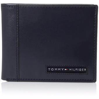 Tommy Hilfiger Navy Men's Leather Cambridge Passcase Wallet with Removable Card Holder