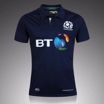 Harga Top Thai quality Scotland 2015/16 Home S/S Home S/S Rugby Shirt2017 2018 Men Scotland rugby jerseys size S-2XL