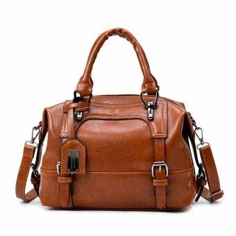 tuladuo Boston Women Bag Vintage Four Belts Shoulder Bags Sequined Women Handbags Designer PU Leather Bags Ladies 2017 New