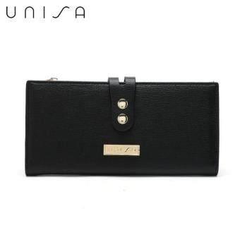 UNISA Textured Bi-Fold Long Ladies Wallet (Black) - 2