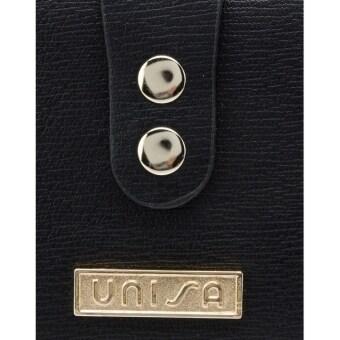 UNISA Textured Bi-Fold Long Ladies Wallet (Black) - 4