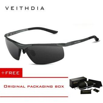 Harga VEITHDIA Aluminum Magnesium Polarized Lens Mens Sunglasses DriverMirror Sun glasses Male Fishing 6501 (Grey) [ free gift ]