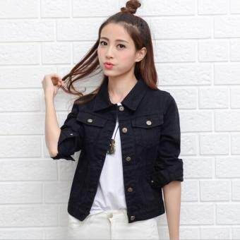 Women Denim Jackets Long Sleeve Short Jeans Jacket Woman Denim ...