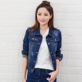 Women Denim Jackets Long Sleeve Short Jeans Jacket Woman Denim ...