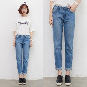 Harga Women Jeans Harlan Pants Loose Denim Pants Girls Jean Casual StreetTrousers