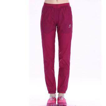 Women Outdoor Hiking Mountain Breathable Pants Quick Dry WindproofWaterproof Climbing Camping Pants Trousers Spring Summer - RED