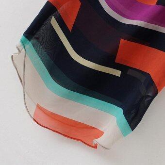 Women's chiffon short sleeved t-shirt ladies blouse muticolor - 5