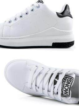 Women's Sport Shoes Simple Design Casual Sneakers (White) - 5