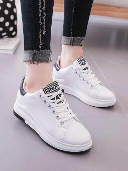 Women's Sport Shoes Simple Design Casual Sneakers (White) - 2
