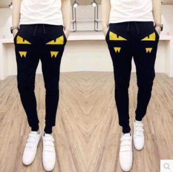 Harga Youth Slim fit skinny harem pants Korean style sports pants (Small monster yellow)