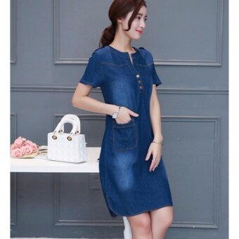 Zashion Korean Dress Collection 2017-Dark Blue