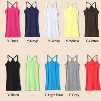 Zashion Summer Cotton Vest Female Sports Clothing-Light Blue