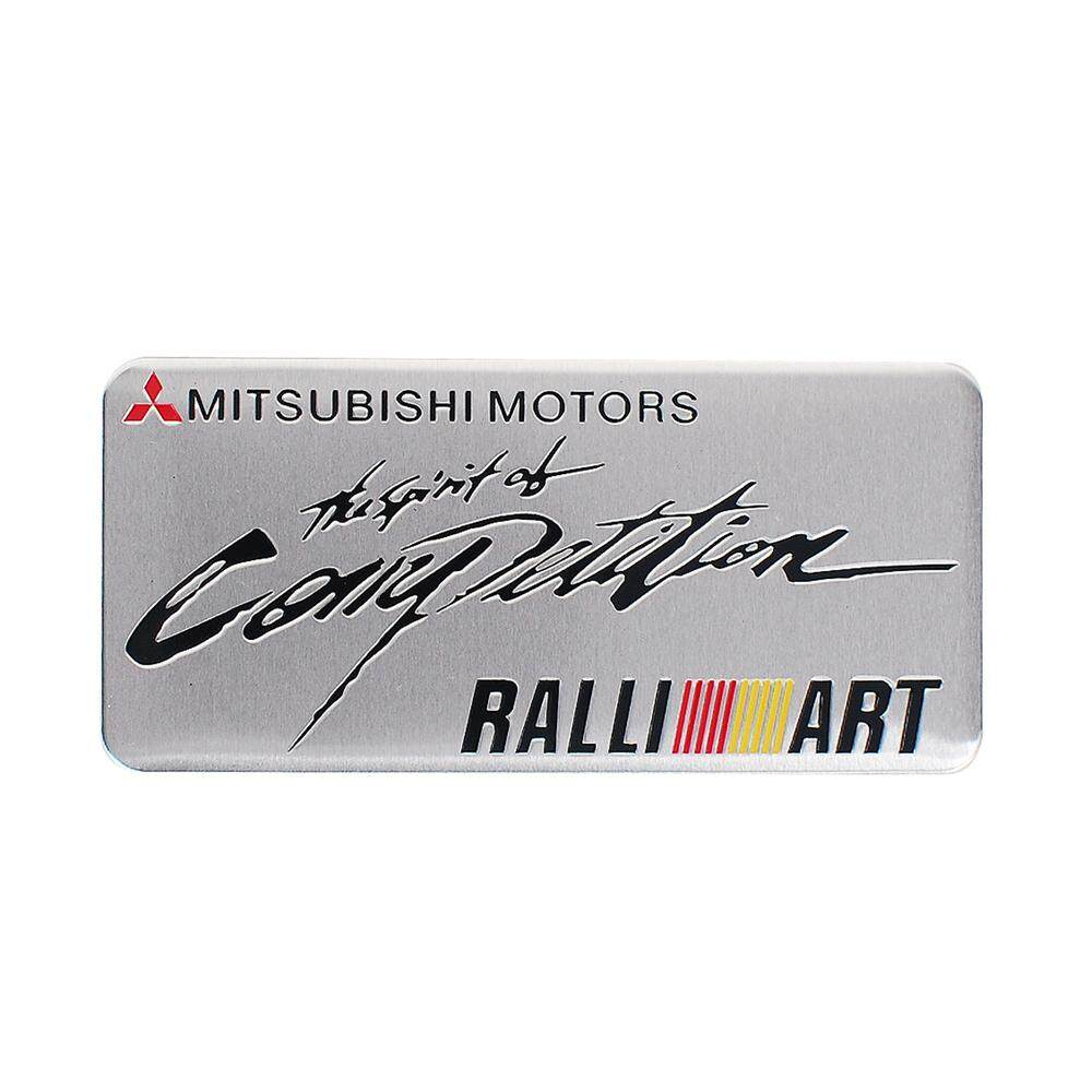 1PC Personalized Car Logo Nameplate Sticker Made Of high Quality Aluminum  Alloy Suitable For Mitsubishi RALLIART