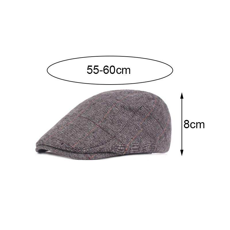 54182ffa2 Comebuy88 Autumn Winter Men Cap Hats Berets British Western Style Cotton  Advanced Flat Ivy Cap Classic Vintage Striped Beret Cap