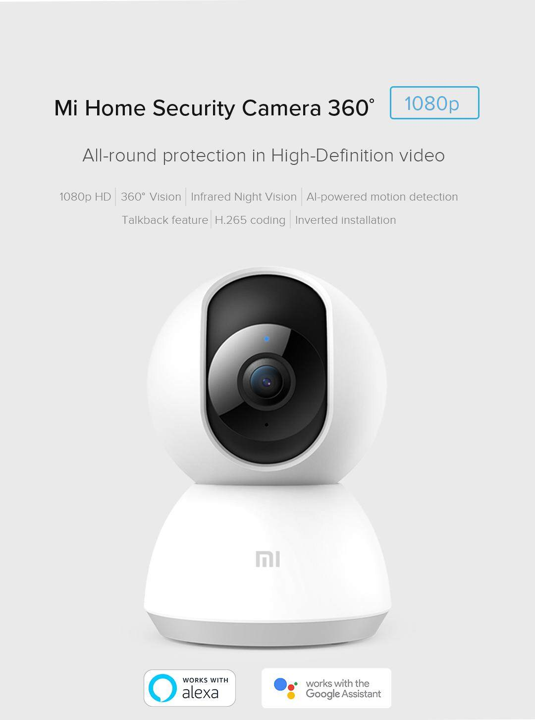 [#1GUARDYOURHOME] NEW 2019 XiaoMi MIJIA MI HOME 360 Degree 1080P Pan Tilt  Zoom HD IP Security Camera Wifi CCTV Night Vision Version MIHOME DAFANG