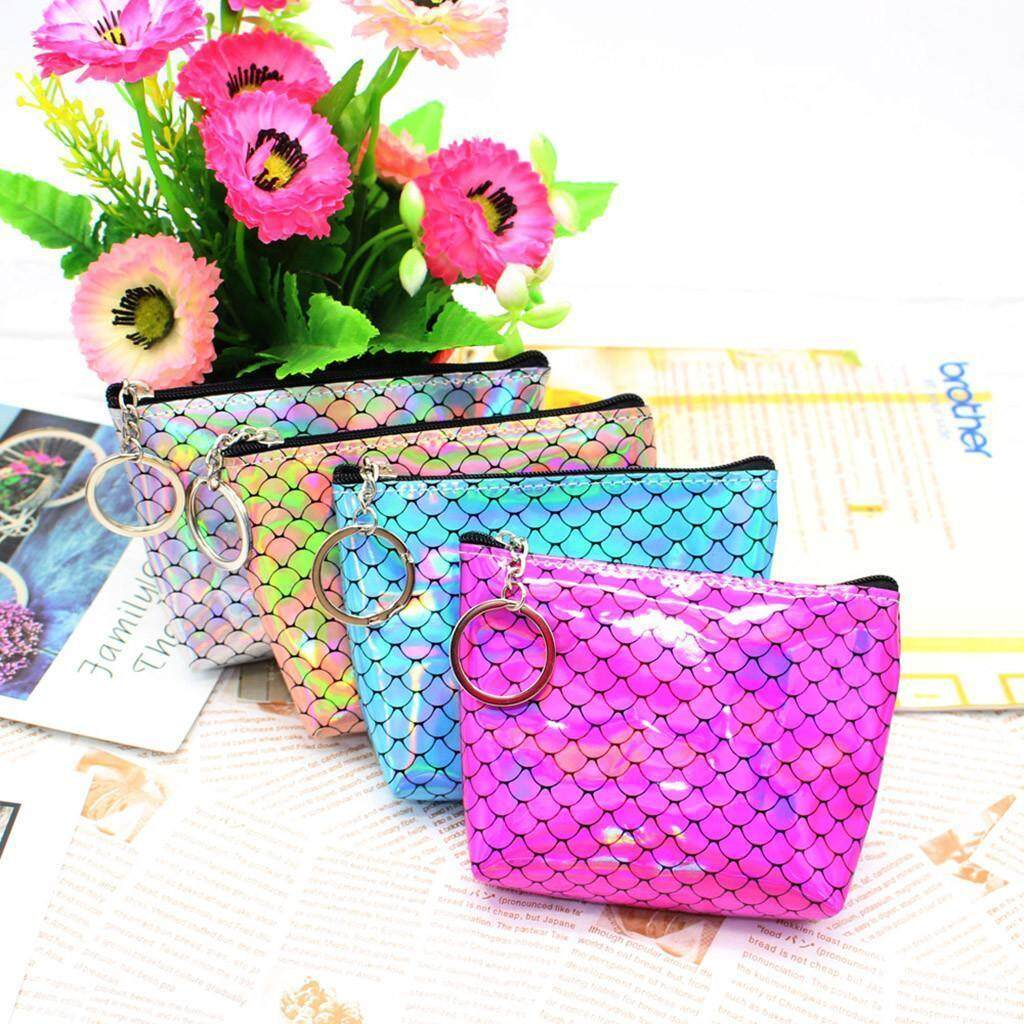Coin Purse Geometric Pattern Coin Pouch With Zipper,Make Up Bag,Wallet Bag Change Pouch Key Holder