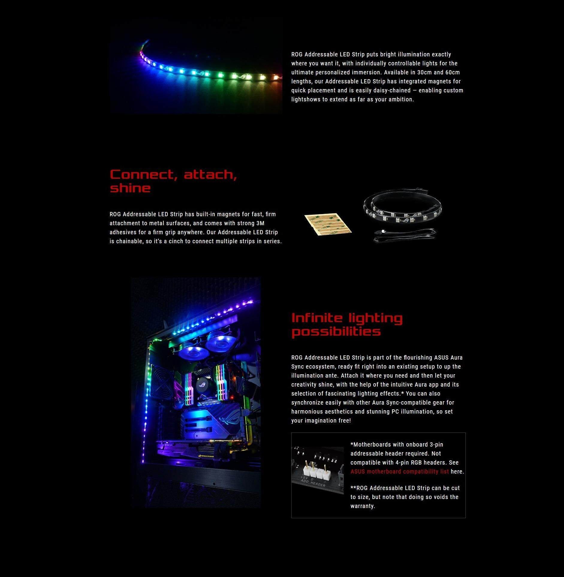 ASUS ROG Addressable RGB LED Strip 60CM