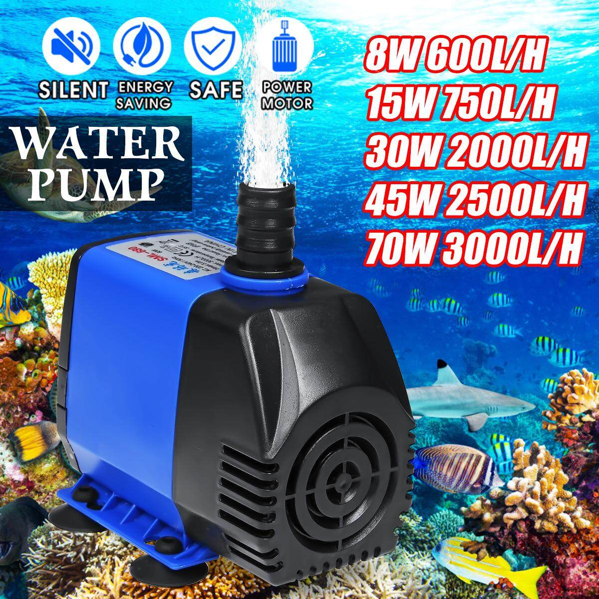 【New Arrival ON SALE】600L/H - 3000L/H Submersible Water Pump Fish Tank Pond  Aquarium Fountain